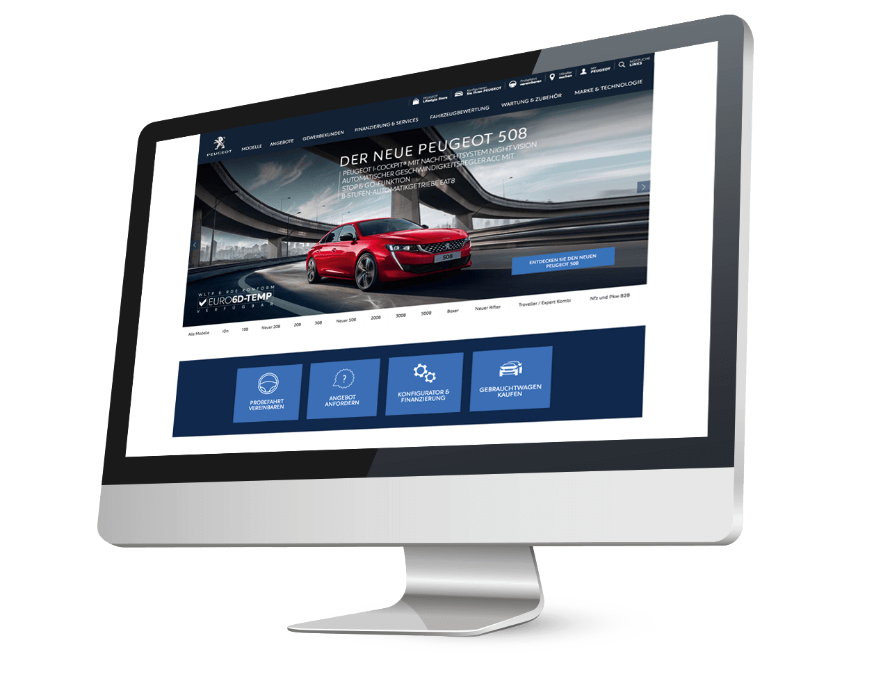 PEUGEOT Digital Projekte Websites